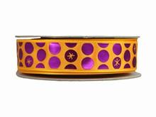 r716 Shiny Purple Dot Ribbon