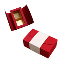 ANT102 Red and Cream 2ct Folding Box