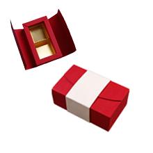 ANT102 Boîte écrin rouge et crème 2ct