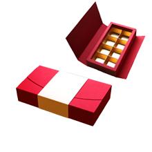 ANT108 Boîte écrin rouge et crème 8ct