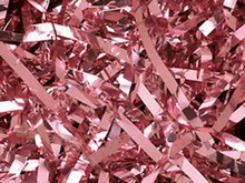 sh222 Antique Rose Metallic Paper Shred