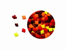 78-11363 Paillettes confettis mini feuilles d'automne