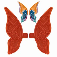 01091 Kit 2 Petites ailes larges de papillon 80x80mm