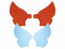 01057 Paire d'ailes de fées moyennes