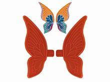 01062 2 Grandes ailes larges de papillon