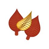 01087 Deux petites feuilles allongées