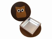 HOP601 Boîte rigide ronde hibou