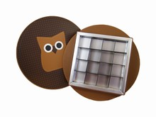 HOP602 Owl Circular Rigid Box 16ct