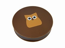 HOP605 Owl Circular Rigid Box 25ct