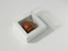 E1WHI Étui pour 1 chocolat blanc et transparent