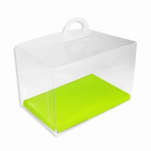 CRY6GY Boîte crystal avec plateforme réversible lime/jaune