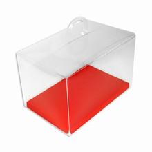 CRY6RW Boîte crystal avec plateforme réversible rouge/blanche
