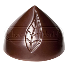 CW1838 Leaf on Praline Polycarbonate Chocolate Mold