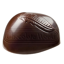 CW1833 Leaf on Praline Polycarbonate Chocolate Mold