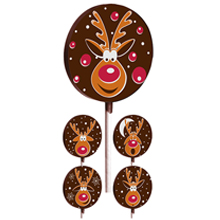 Rudolph Lollipop Transfer Sheets