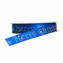 Ruban bleu 'Merry Christmas'
