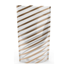 Standing Chic Gold Stripes Bag 5x8