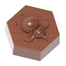CW1858 Hexagonal Happy Bee Praline