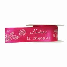 r895 Fuchsia 'J'adore le Chocolat' Ribbon