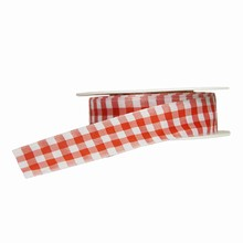 r900 Plaid Red and White Ribbon