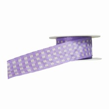 r901 Lilac and White Plaid Ribbon
