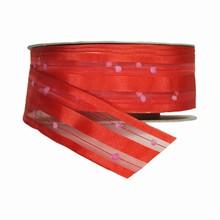 r918 Ruban lilipompom rouge vif