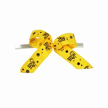 bow19 Yellow Chocolat Twist Tie Bows