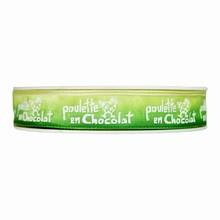 r170 Green Ombre 'Poulette en Chocolat' Ribbon