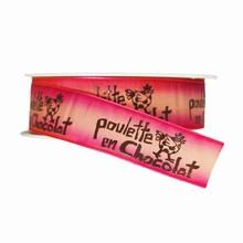 r186 Pink Ombre 'Poulette en Chocolat' Ribbon