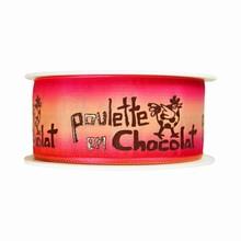 r187 Pink Ombre 'Poulette en Chocolat' Ribbon