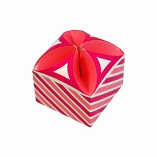 4024 Candy Pink Striped Tulip Box