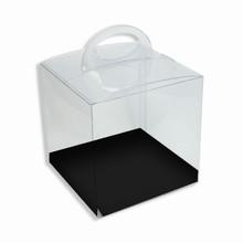 CRY1BW Boîte crystal avec plateforme réversible noire/blanche