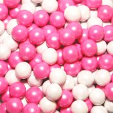 Sixlets décor chocolaté mix rose et blanc