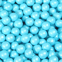 Pearly Blue Sixlet Chocolate Pearls