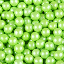 Lime Green Shimmer Sixlet Chocolate Pearls
