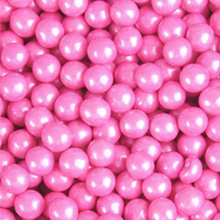 Bright Pink Shimmer Sixlet Chocolate Pearls