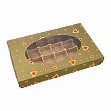 ccv104 (50) 1lb rect. Gold Valentine box