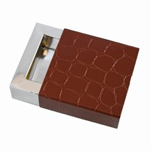 e19184s-10 Sleevebox for 1 chocolate Croco Chestnut and Silver