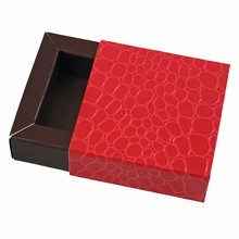 E19192b-10  Sleevebox for 1 chocolate in Grenadine and Java
