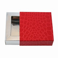 E19192s Sleevebox for 1 chocolate in Grenadine and Silver