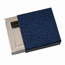 E19509s-10 Perla Midnight Blue and Silver Sleevebox for 1 chocolate