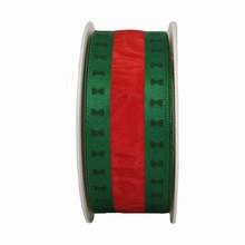 RN406 Ruban à rayures rouge et vert