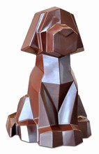 DRCP026 Chien Origami moule en PVC rigide