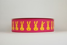 RP630 Neon Yellow Bunnies Ribbon (Medium)
