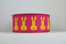 RP631 Ruban de lapins jaunes au néon (grand)