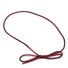Ruban élastique rouge mat