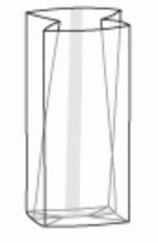 SB12 Sac cello transparent avec gousset