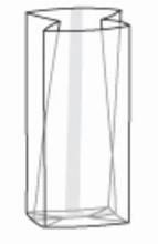 SB14 Sac cello transparent avec gousset