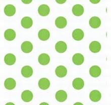 Polka dots lime green cello bag #1
