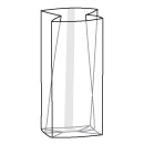 SB003 Clear cello bag with gussets
